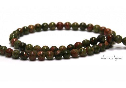 Unakite beads beads around 6.4mm