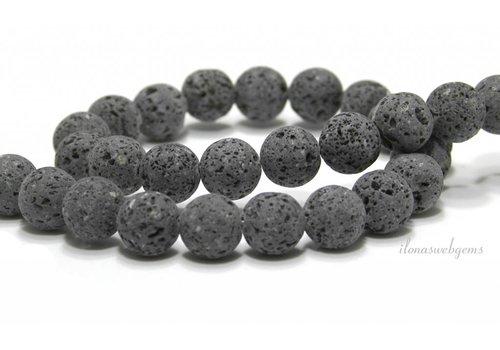 Lavastone beads anthracite gray around 12mm