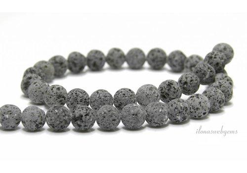 Lavastone beads anthracite gray around 10mm