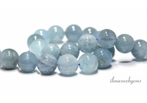 Aquamarine beads around 14.5mm