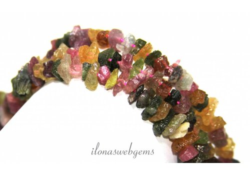 Tourmaline beads split approx. 8mm