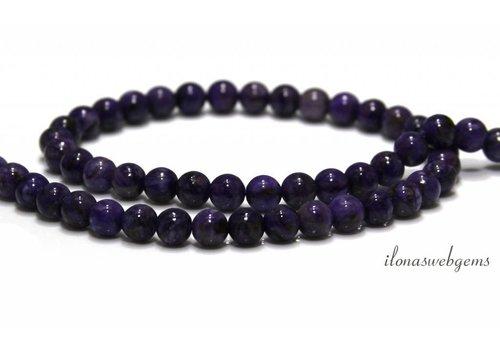 Charoite beads around 6.5mm