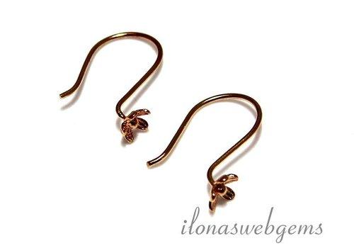 1 pair of ear hooks Vermeil - Copy