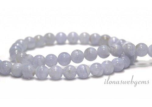 Chalcedony beads around 7.3mm