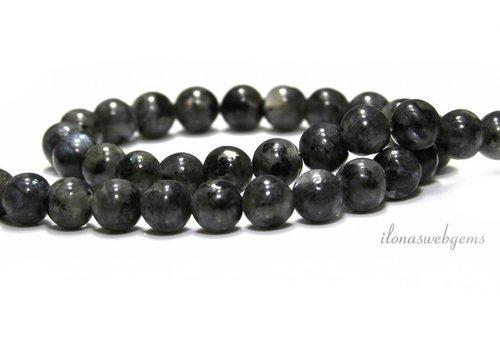 Larvikite beads around 10mm - Copy