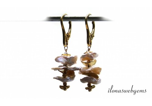 Inspiration earrings Pearl chips