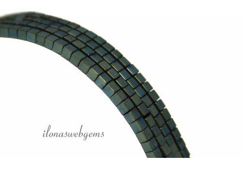 ca. 190 stuks Hematiet kralen mini mat groen ca. 2mm