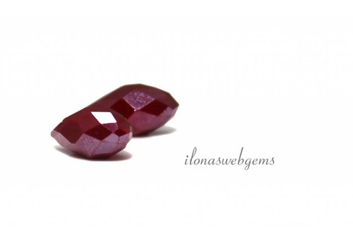 1 pair Swarovski style drops red-purple about 12x6mm