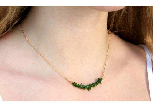 Inspiration: Split beaded necklace