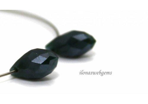 1 pair Swarovski style drops dark green around 12x6mm