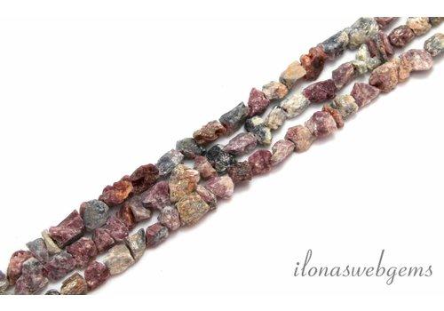 Tourmaline beads 'rough' approx. 10mm