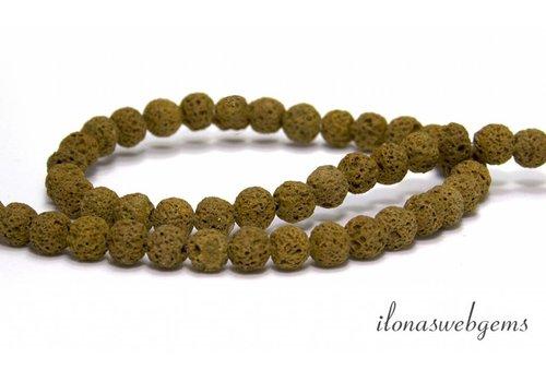 Lava stone beads around 7mm