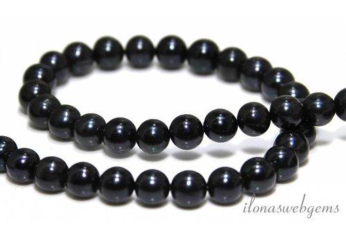 Freshwater pearls black around 10mm