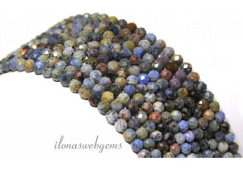 Dumortierite mini faceted beads facet around 4mm