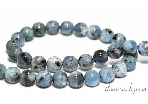 Aquamarine beads beads around 10.5mm