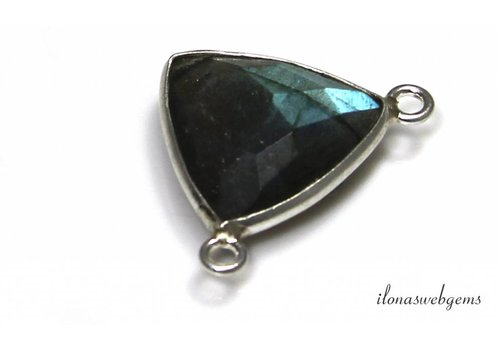 Sterling silver Labradorite connector approx. 15x15mm
