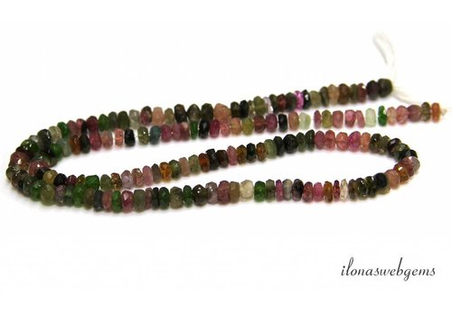 Tourmaline beads facet roundel A quality around 4.5x2mm