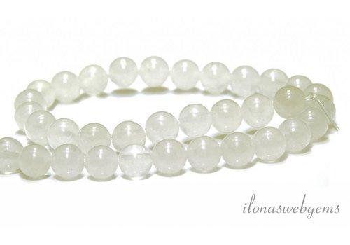Jade-Perlen weiss um 8mm