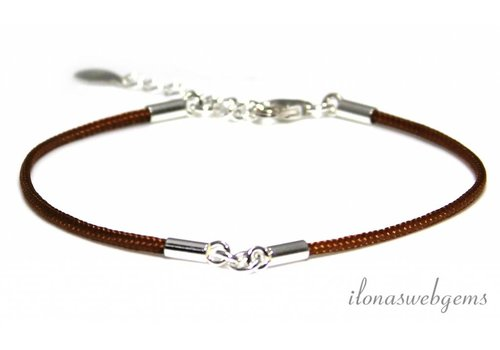 Bracelet base with Sterling silver about 15.5cm