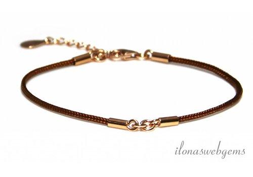 Bracelet base with Rosé Vermeil approx. 15.5cm