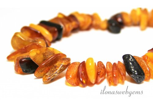 Amber / Amber beads side drill approx. 10-12mm