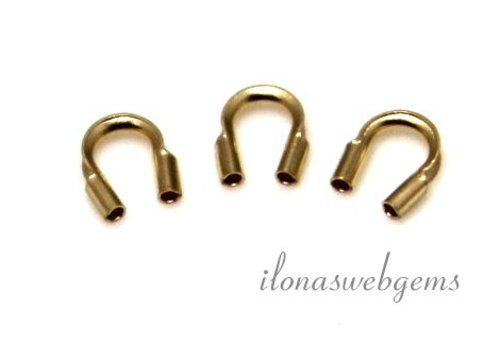 1 Stück 14 Karat Golddrahtschutz / Drahtführung ca. 4,5 mm