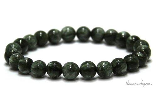 Seraphinite beads around 8mm AA quality