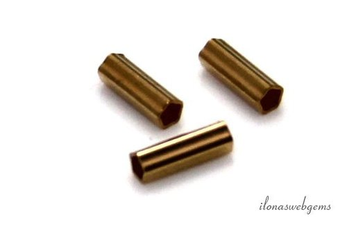 Gold filled buiskraal ribbel ca. 6x2mm