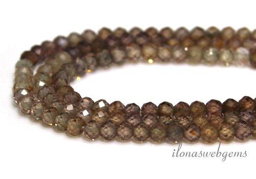 Zircon beads facet roundel around 3x2.5mm