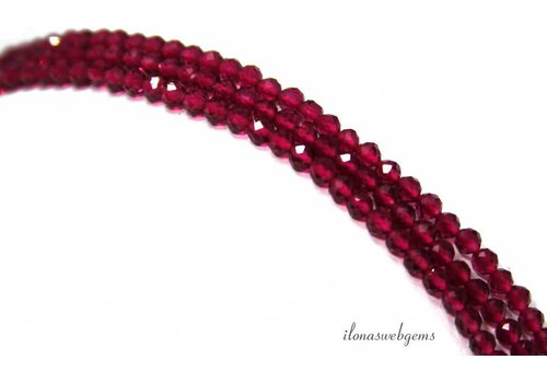 Cubic Zirconia beads 'Ruby' facet around ca. 2.2mm