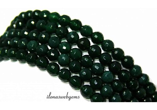 Green Onyx beads facet ca.6mm