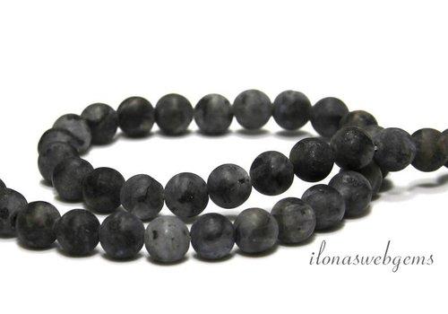 Larvikite beads mat around 8.5mm