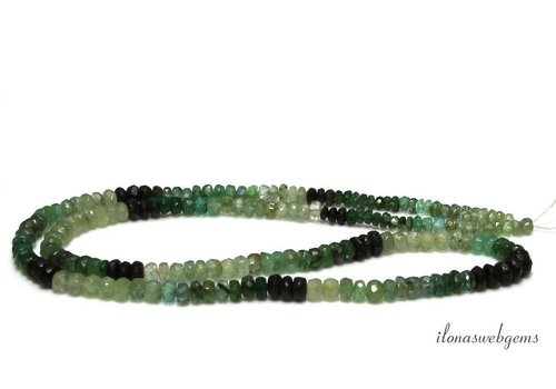 Emerald beads facet roundel shaded up and down from approx. 2x1.5 to 4x2mm - Copy