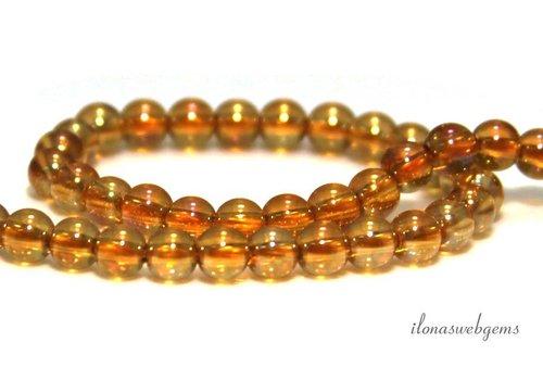 Golden Aura Quartz beads around 4mm