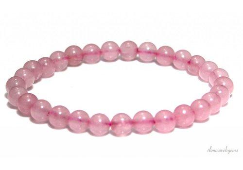 Rose quartz bead bracelet approx. 4mm
