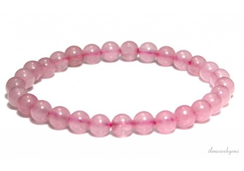 Rose quartz beads bracelet approx. 6mm
