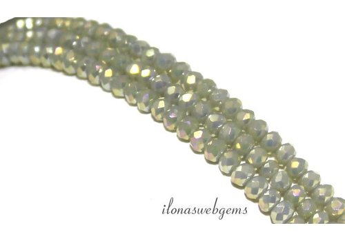 Kristallperlen im Swarovski-Stil mit rundem Facettenschliff von 3x2mm