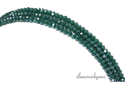 Swarovski style kristal kralen facet rondel ca. 3x2mm