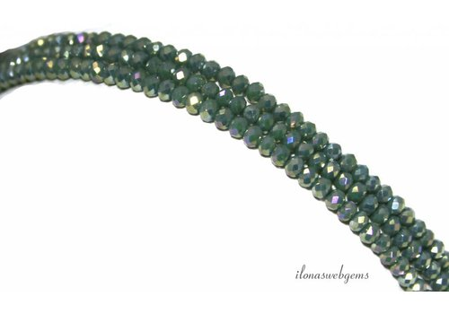 Swarovski style crystal beads faceted roundel around 3x2mm