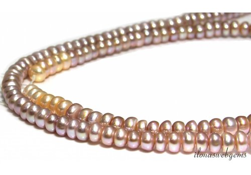 Freshwater pearl roundel mix approx. 7mm A quality