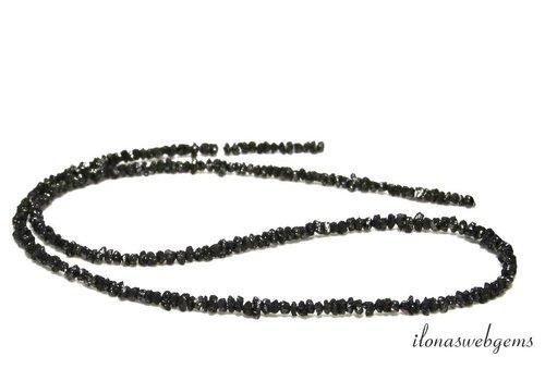 Zwarte Diamant kralen ca. 3.5x2mm