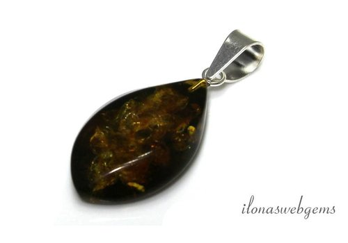 Amber / Amber pendant approx. 31x18x8mm