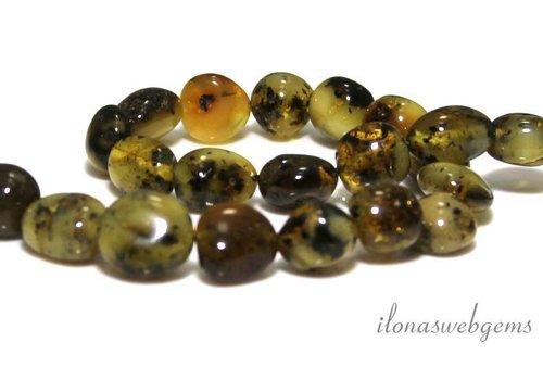 Amber / Barnsteen kralen ca. 11x7mm