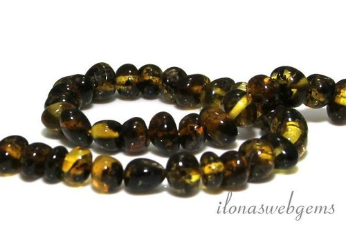 Amber / Amber beads approx. 9x7mm - Copy