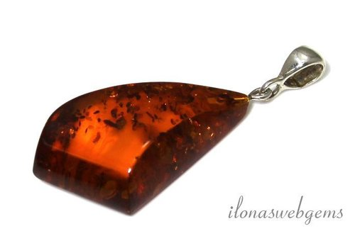 Amber / Amber pendant approx. 35x22x10mm