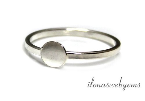 Sterling silver ring for cabochon 6-12mm