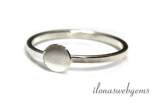 Sterling zilveren ring voor cabochon 6-12mm