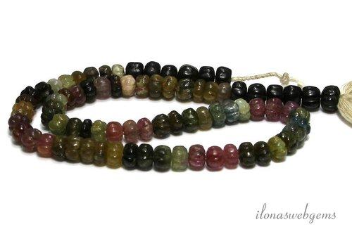 Tourmaline beads cut roundel around 8x5mm