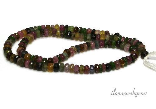 Tourmaline beads facet roundel around 7x4mm - Copy
