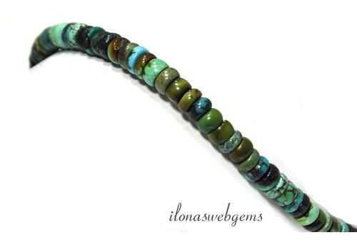 Turquoise beads roundel around 6.5x3mm